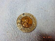 Encased Coin Lewyt Vacuum Cleaner Lucky Penny 1952 Wheat Cent