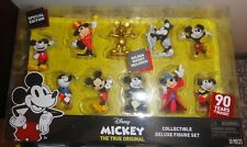 NEW Disney Mickey Mouse Golden Special Figure Set 90th Anniversary 10 Total