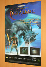 Baldur's Gate Dark Alliance Old Advertising Small Poster Promo AD Print PS2 Xbox