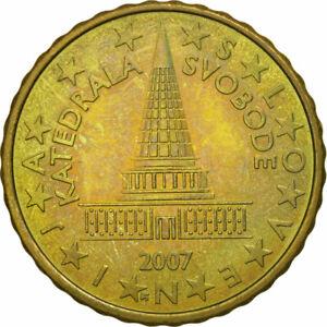 [#463485] Slovénie, 10 Euro Cent, 2007, SUP, Laiton, KM:71