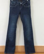 Chinese Laundry Women's Jeans Size 26 Blue Wash Distressed Fade Straight Leg
