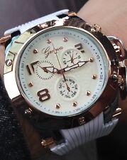 Luxury Geneva Watch! Big Face New Black watches Gift Man woman USA shipping!
