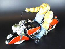 Biker Motorrad Fahrer Bike aus Polyresin 23 cm Funny Figur,NEU