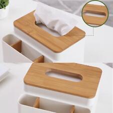 Vintage Wood Cover Plastic Tissue Napkin Paper Box Holder Storage Organize Case