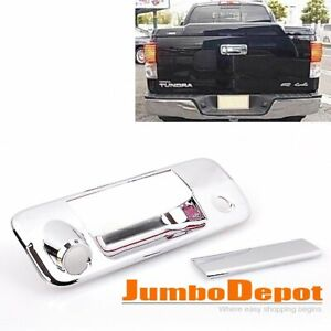 Chrome Rear Tailgate Door Handle Cover Trim Fit Toyota Tundra Pickup 2007-2013