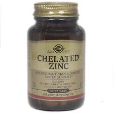 Solgar Chelated Zinc Tablets**   - 100 Count