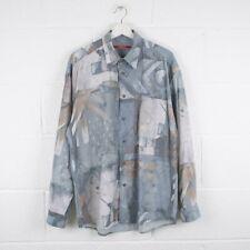 Vintage Crazy Print Patterned Long Sleeved Shirt Size Mens Large