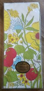 NOS Vintage Hallmark Table Cover Paper Tablecloth FLOWERS 60x102 Retro Party