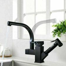 Robinet de cuisine mitigeur d'évier chrome à 360 degrés 2 robinets lavabo Noir