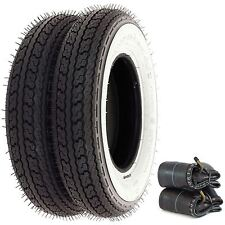 Shinko SR550 Street White Wall Tire Set - Honda Z50A/R - 68-99 - Tires and Tubes