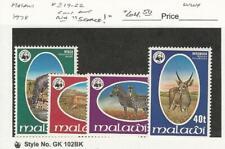 Malawi, Postage Stamp, #319-322 Mint NH, 1978 Animal WWF, JFZ