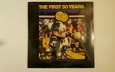 FIRST 50 YEARS story of national football league 2LP W/poster & Book 1969 SEALED