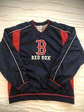 MLB Boston Red Sox Pullover Side Zip Jacket Windbreaker EUC XL (16/18)