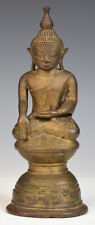 15th Century, Ava, Rare Antique Burmese Bronze Seated Buddha