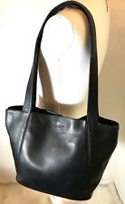 Authentic COACH Vintage Designer Handbag purse bag black leather tote satchel