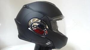 LS2 Valiant Modular Motorcycle Helmet Flip Up Dual Visor Pinlock Matte Black