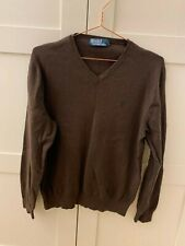 Ralph Lauren Polo men's brown jumper basic with logo size M