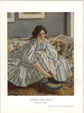 1930 Walter Russell Tying Her Shoe Art Print