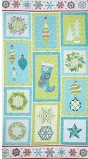 Sparkle PANNELLO NATALE Craft Panel-AVVENTO-Benartex-Natale tessuto di cotone