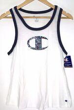 Champion Womens Heritage Ringer White Yoga Fitness Tank Top Athletic M BHFO 9643