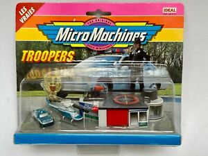 MICRO MACHINES 1993 TROOPERS POLICE ITALY ALFA BELL HELICOPTER IDEAL FRENCH NEW