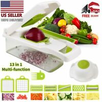 Multifunction 13 in 1 Vegetable Chopper Food Fruit Dicer Cutter Veggie Slicer US