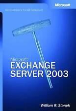 Microsoft Exchange Server 2003 - Administrator's Pocket Consultant: