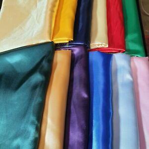 Silky Satin Fabric Dress Craft Fabric Plain Luxury Wedding Material 150 cm Wide