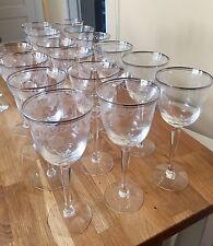 "Set Of Eight (8) Lenox CLASSIC SHELL (PLATINUM TRIM) Water Goblets 8"" Superb"