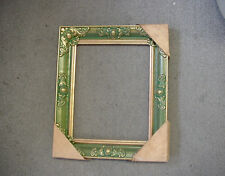 11 x 14 Wood Frame with gold trim on edges & design on corners