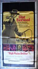 "HIGH PLAINS DRIFTER 41""x80"" Three Sheet movie poster Clint Eastwood Film 1973 C7"