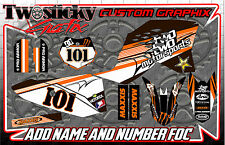 KTM SX50 SX65 Graphics Kit with custom numbers etc - SX 50 65 2002-2016