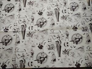 Nightmare Before Christmas/Hallmark Gift Wrap Sheet 20 By 30 Inches/Black/White