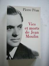 GUERRE 39 45  VIES ET MORTS DE JEAN MOULIN   Résistance Française   TBE