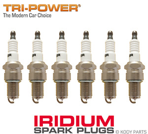 IRIDIUM SPARK PLUGS - for Toyota Cressida 2.8L 6 Cyl MX73R (5MGE) TRI-POWER
