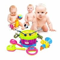 5Pcs/Set Baby Boy Girl Drum Musical Instruments indoor Children Toys Set
