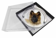 Belgian Shepherd Dog Glass Paperweight in Gift Box Christmas Present, AD-GS3PW