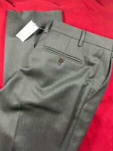 """BNWT BROOKS BROTHERS Men, 100% Wool, Untailored Brown Trousers. Size 38"""" W"""
