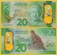New Zealand 20 Dollars p-193 2016 UNC Polymer Banknote
