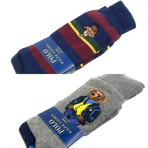Polo Ralph Lauren Men's 2 Pack Bear Dress Casual Work Socks