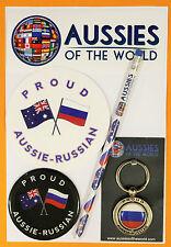 PROUD AUSSIE - RUSSIAN GIFT AUSTRALIAN KEYRING MAGNET STICKER RUSSIA SOUVENIR