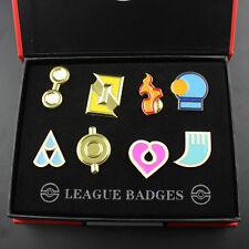 Pokemon Hoenn 8 Metal League Gym Badge Pin Pip Gen 3 Cosplay Prop Collection Set
