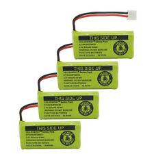4-Pack Rechargeable Battery 2.4V 500mAh Ni-MH Cordless Phone ATT Vteck Uniden