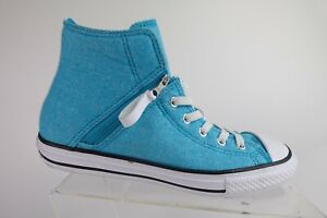 CONVERSE All-Star Chuck Taylor Blue Sz 5 Kids Zip-Up Skate Sneakers