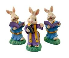 Midwest Of Cannon Falls Cottontail Lane Bunny Priest & 2 Altar Boys Rare Vintage