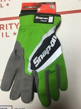 Snap-on Large Green Work Gloves. Touch Screen Compatible.