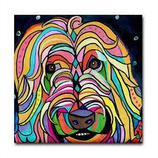 4x4 Wheaten Terrier art Tile Ceramic Coaster Mexican Folk Art Print of painting