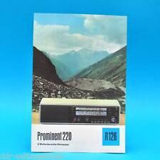 Prominent 220 4-Wellen-Heimsuper 1975 | Prospekt Werbung DEWAG DDR Radio R126 D