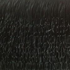 "4""/100mm BLACK SILKY LOOPED DRESS FRINGE X 25 METRE CARD- QUALITY FRINGING"