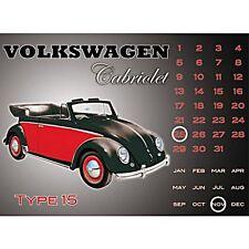 Calendrier Perpétuel en métal VW Beetle Cabriolet(fd)